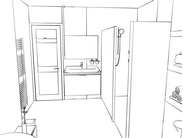 Bathtub Outline Drawing